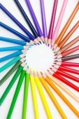 Colorfull absztrakt háttér ceruza rajz Közelkép a kör