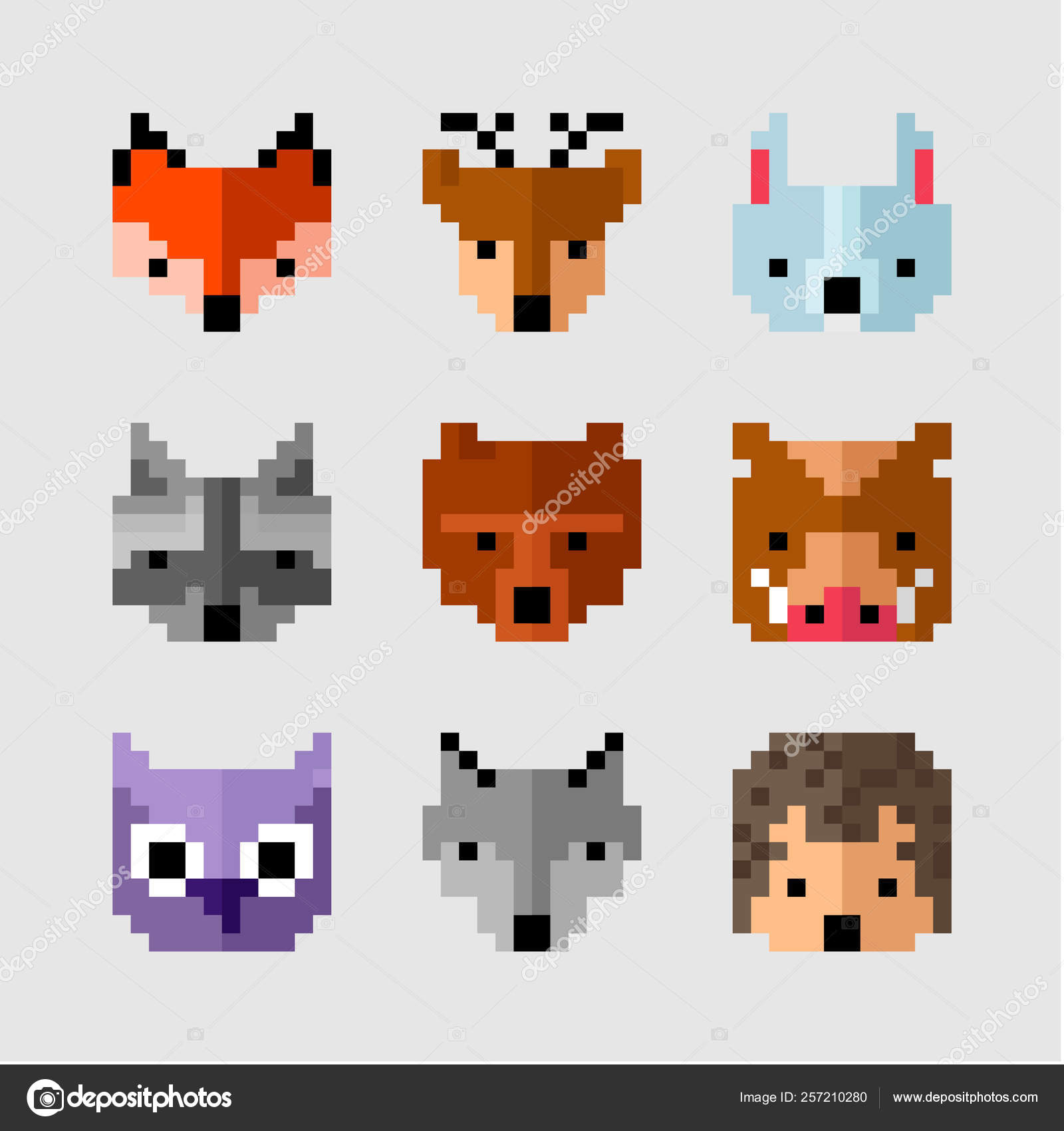 ᐈ Cool Fox Stock Drawings Royalty Free Pixel Fox