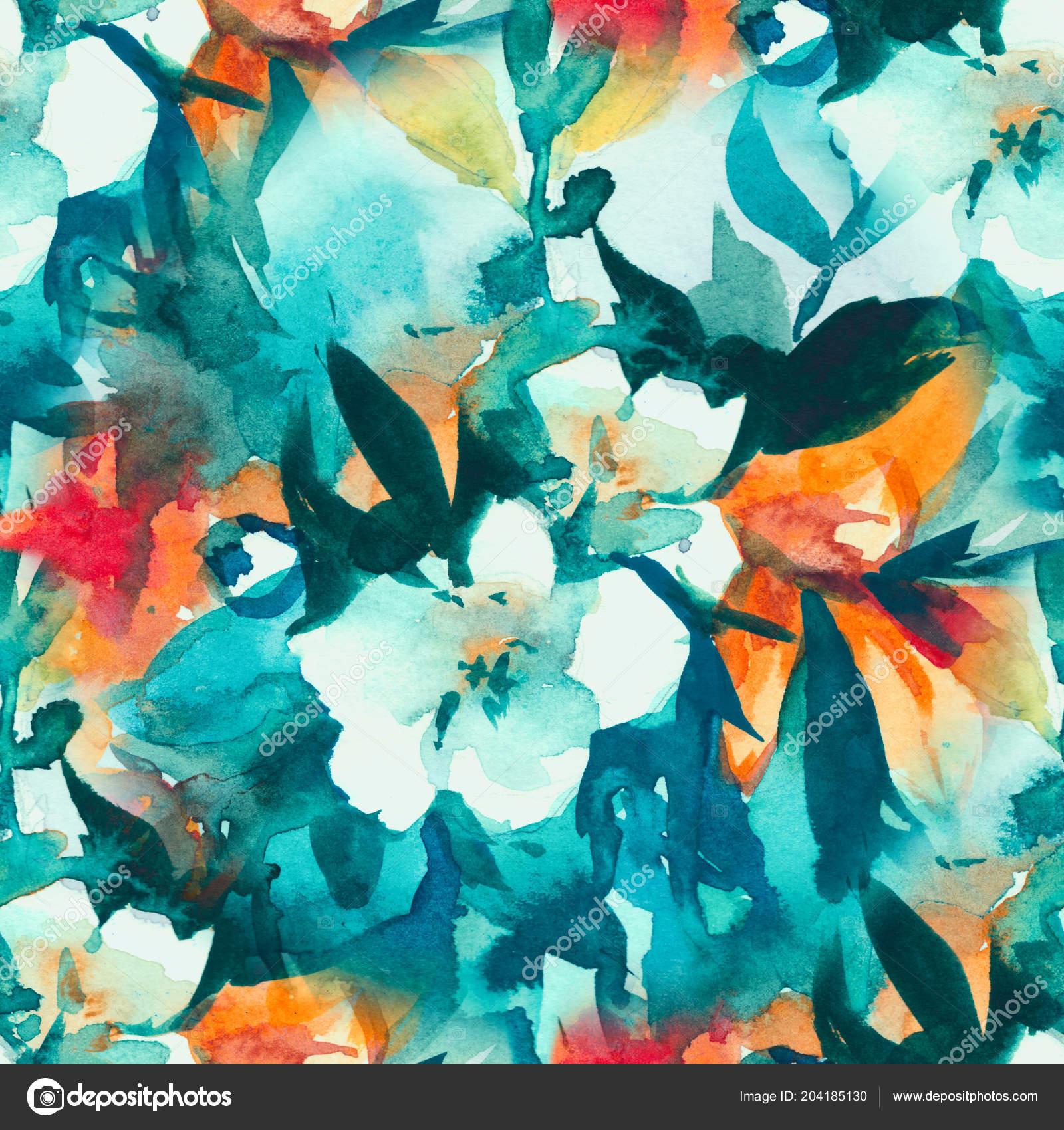 Padrao Sem Emenda De Aquarela Floral Flores Delicadas