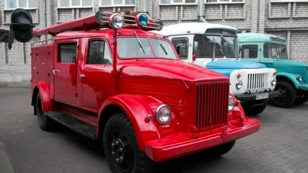 Moskevská oblast, Rusko - 16 září 2018: sovětské hasičský vůz Gaz-51a