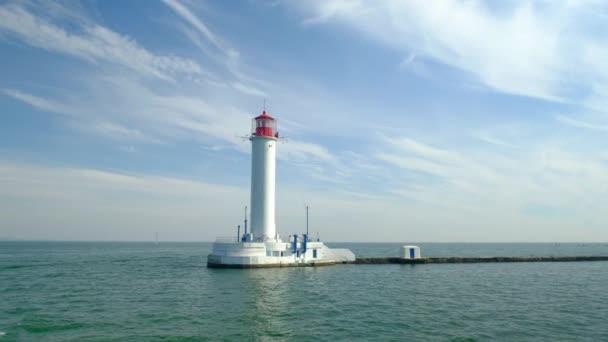 Hafen von Odessa. Leuchtturm. Ukrainisch. Schwarzes Meer. Frühherbst