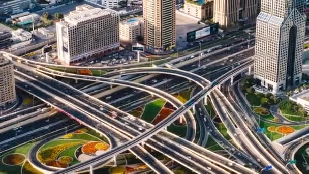 Timelapse video of the intersection of transport arteries of Dubai