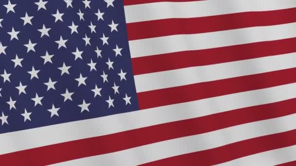 USA flag. American flag waving in the wind. Loopable. 3D rendering.