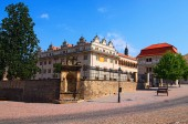 Slavné starověké renesanční zámek Litomyšl slunečného letního dne. Je to jeden z největších renesančních zámků v České republice. Na seznamu světového dědictví UNESCO. Litomyšl, Česká republika