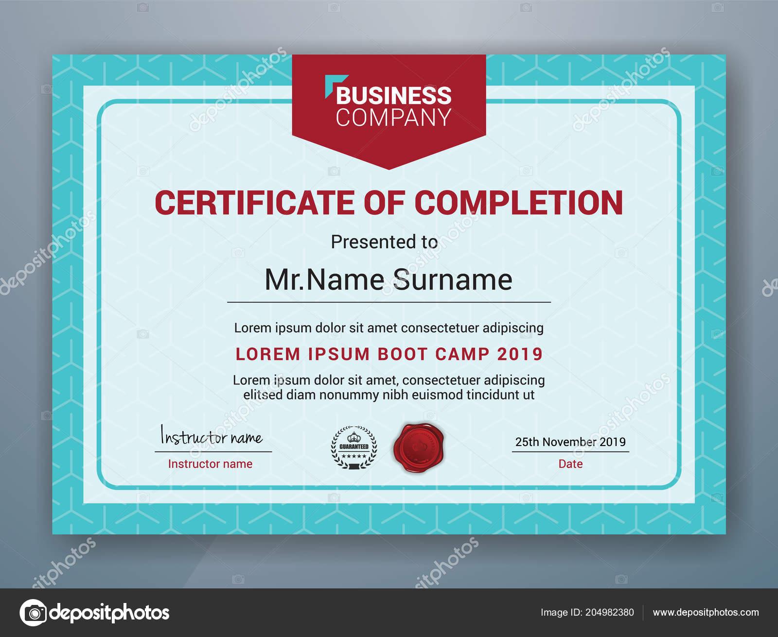 Multipurpose Professional Certificate Template Design Print Vector