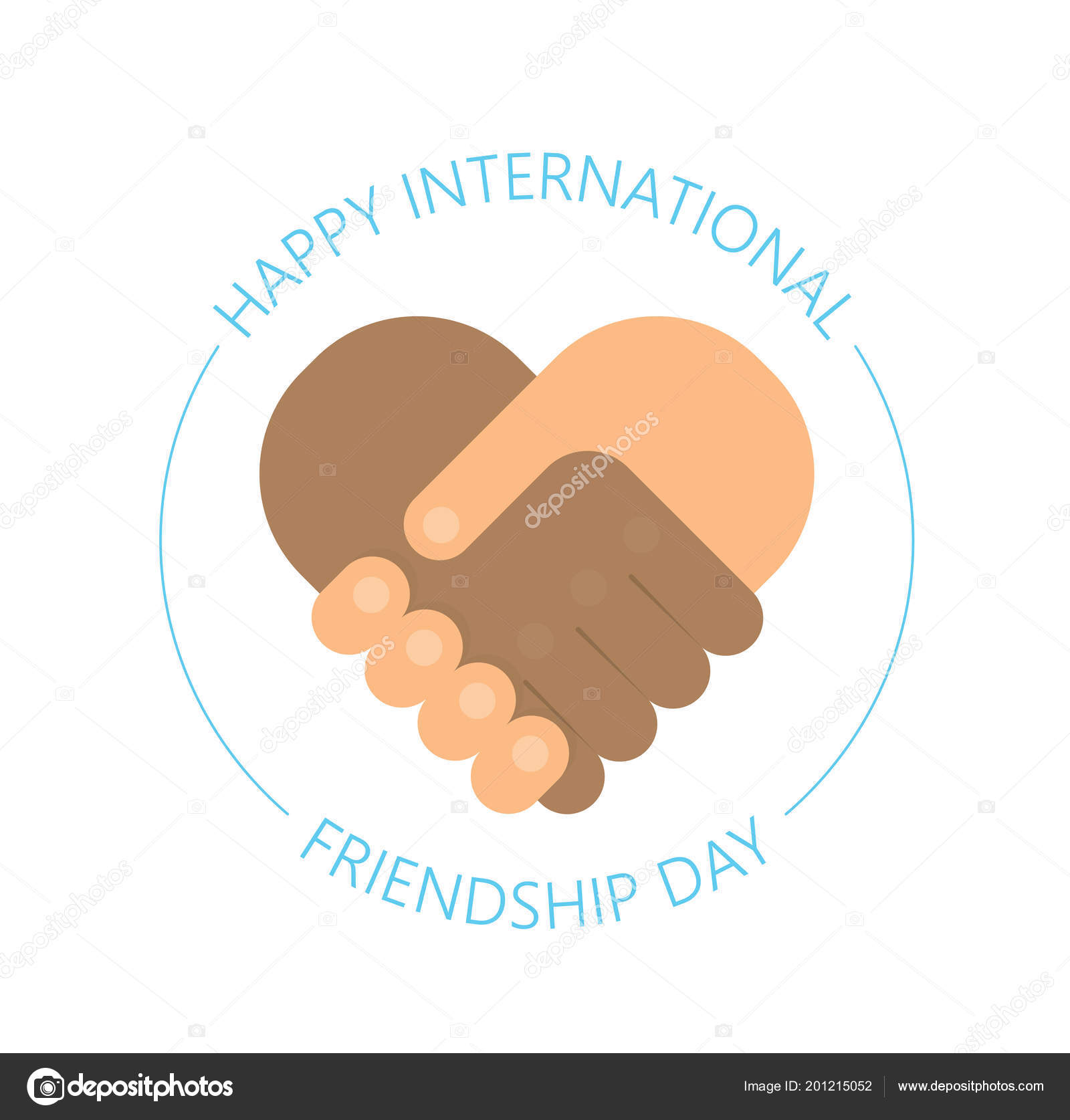 International handshake friendship logo happy friendship day usable for greeting cards posters best friends forever vector by ironwool m4hsunfo