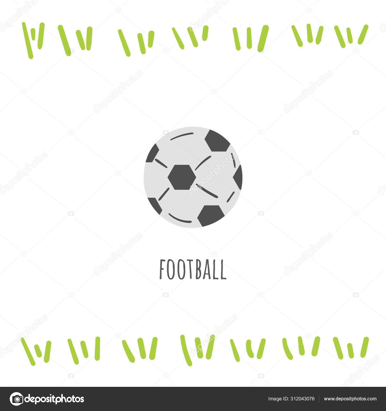 Football Sport Doodle Card Postcard Tag Cover Background With Text Stock Vector C Nadineveresk 312043076