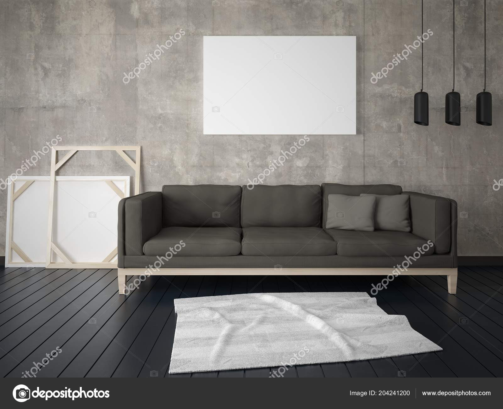 stylish living room comfortable. Plain Stylish Mock Stylish Living Room Comfortable Dark Sofa Hipster Background U2014  Stock Photo For E