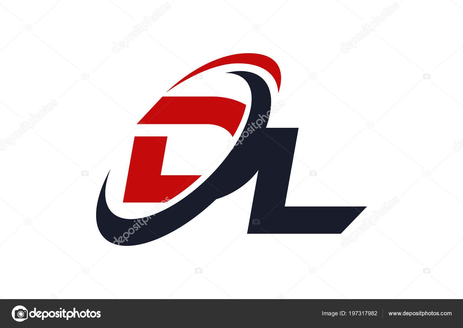 Logo Swoosh Global Red Letter Vector Concept Stock Vector C Depositvectors 197317982