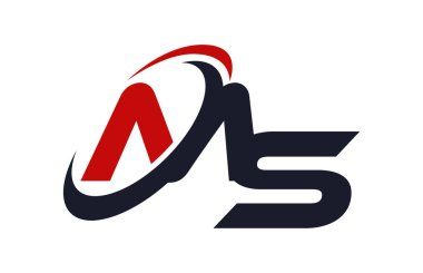 MS Logo Swoosh Global Red Letter Vector Concept