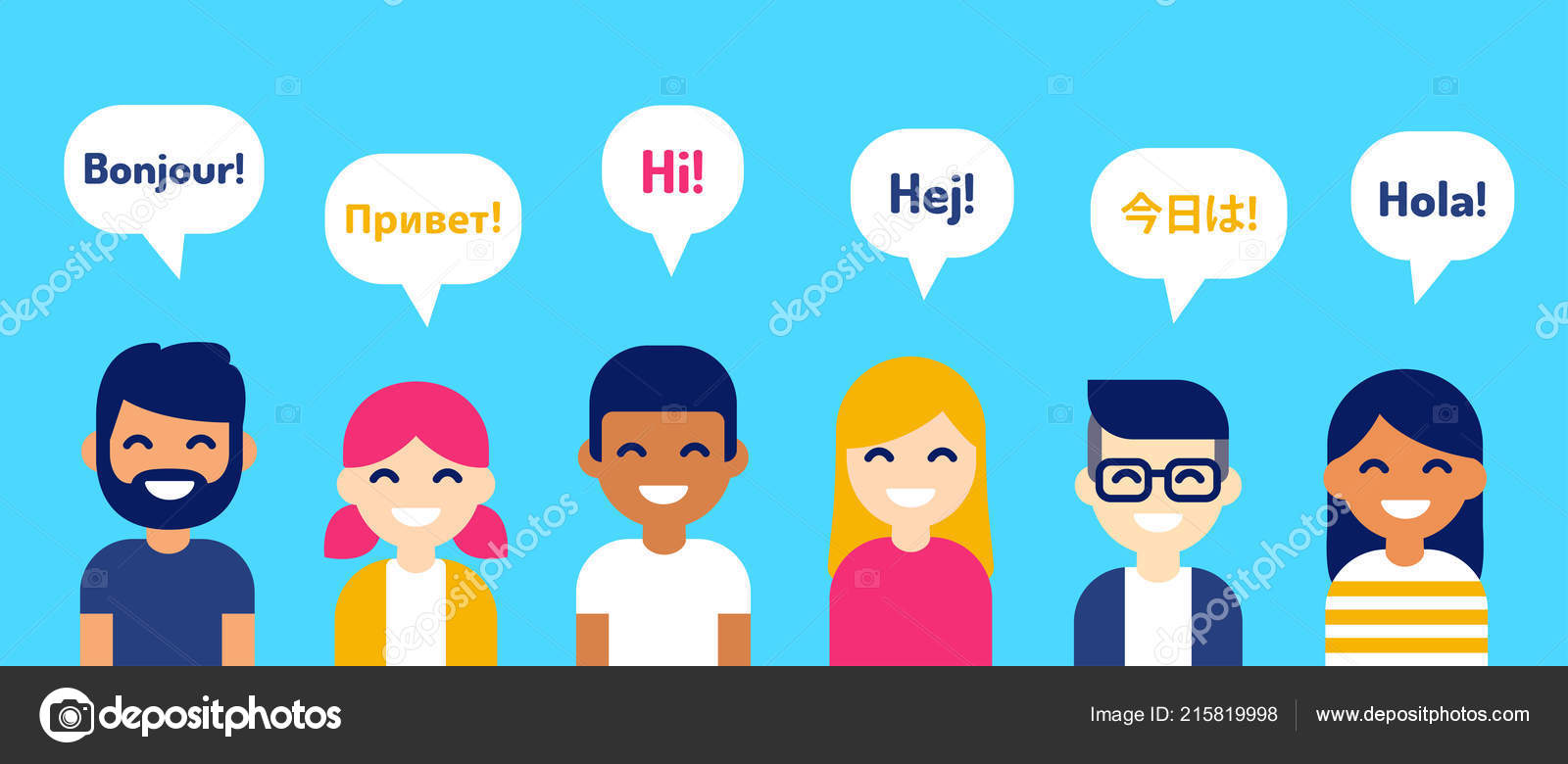 Grupo Internacional Decir Hola Diferentes Idiomas