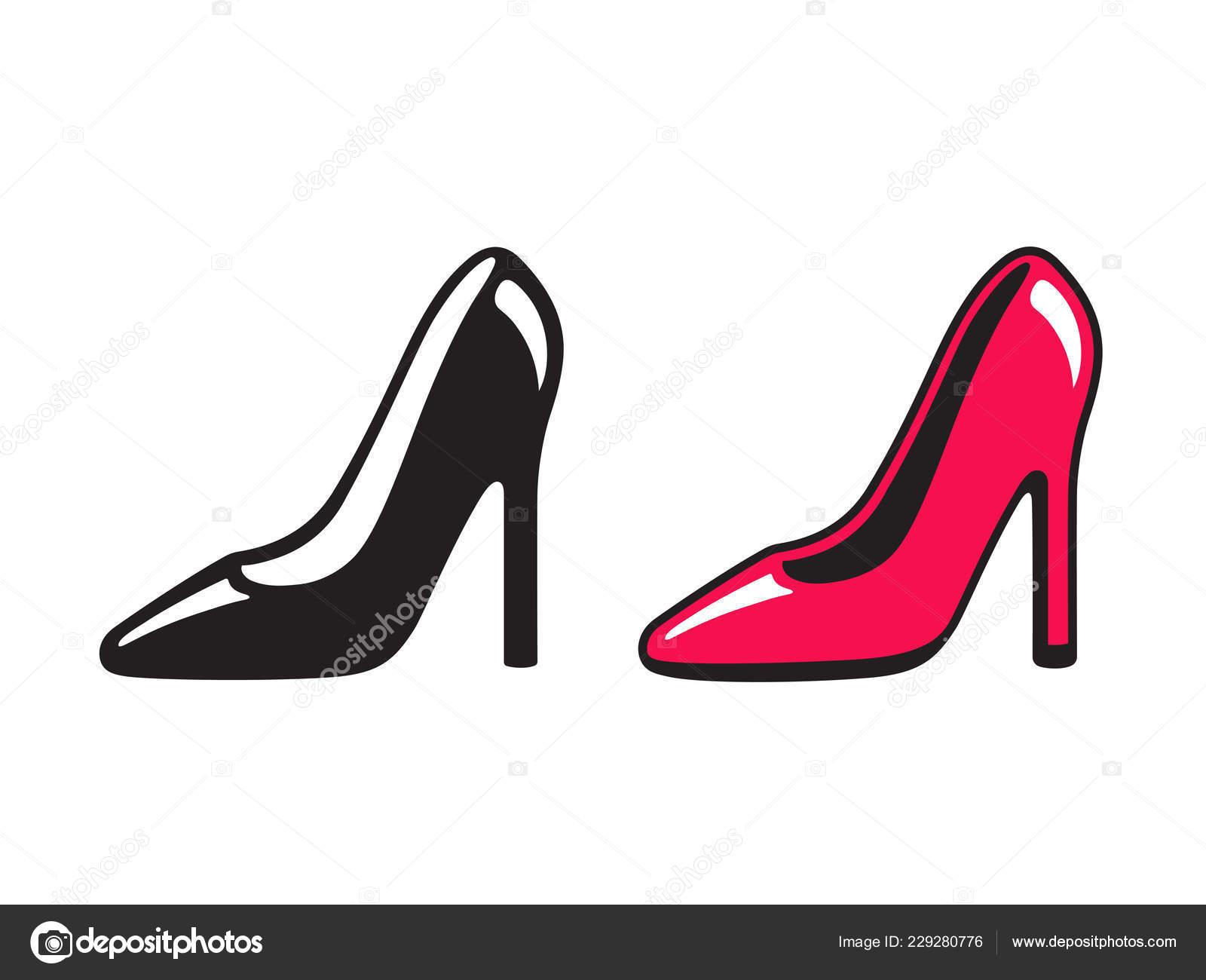 reputable site 76580 27ed7 Schwarzen Und Roten High Heel Schuh Symbole Einfaches ...