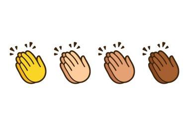 Clapping hands emoji set