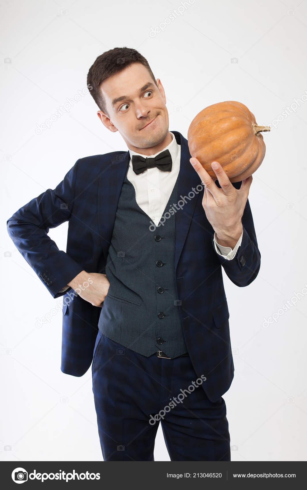 Pumpkin Men with Dress Shirt Tie