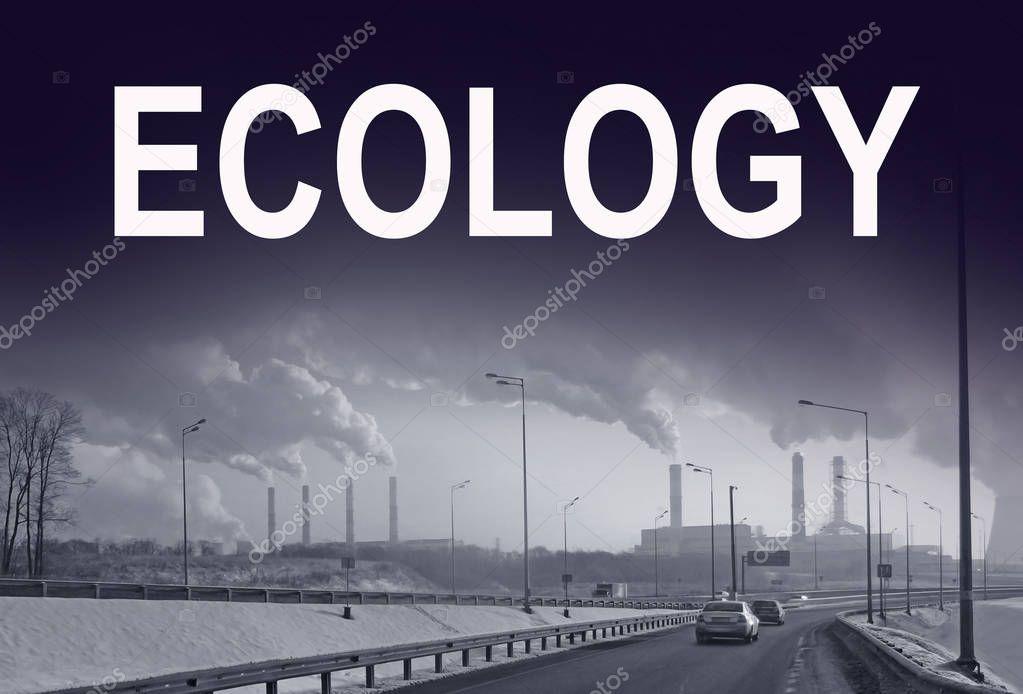 Smoking chimneys of factories