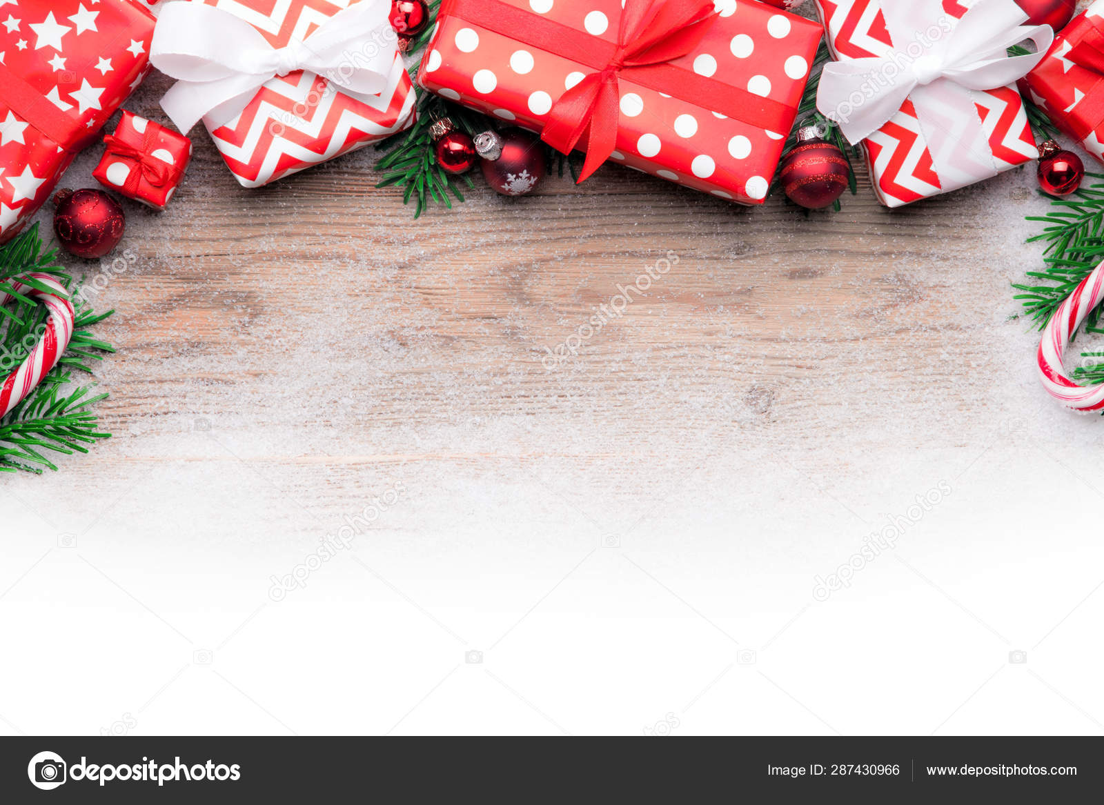 Merry Christmas Card Template Copy Space Stock Photo C Pixelliebe 287430966