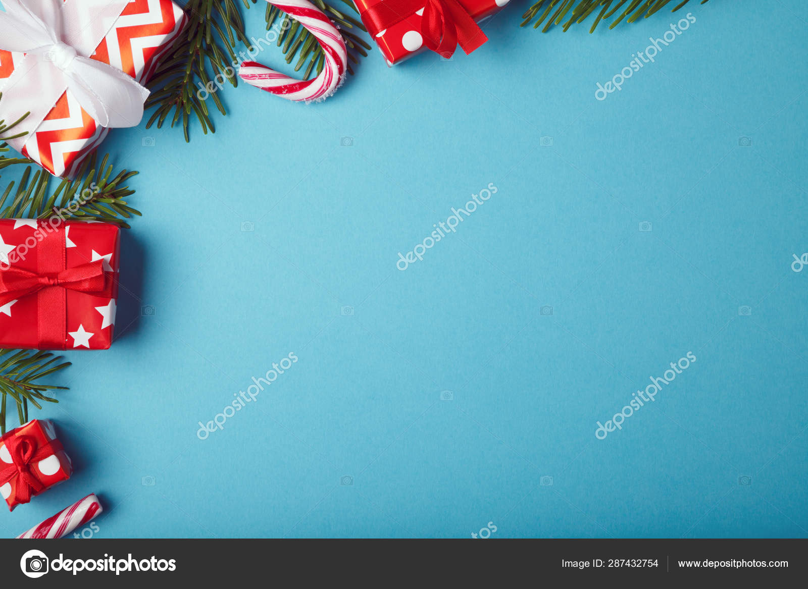 Christmas Card Template.Merry Christmas Card Template Copy Space Stock Photo
