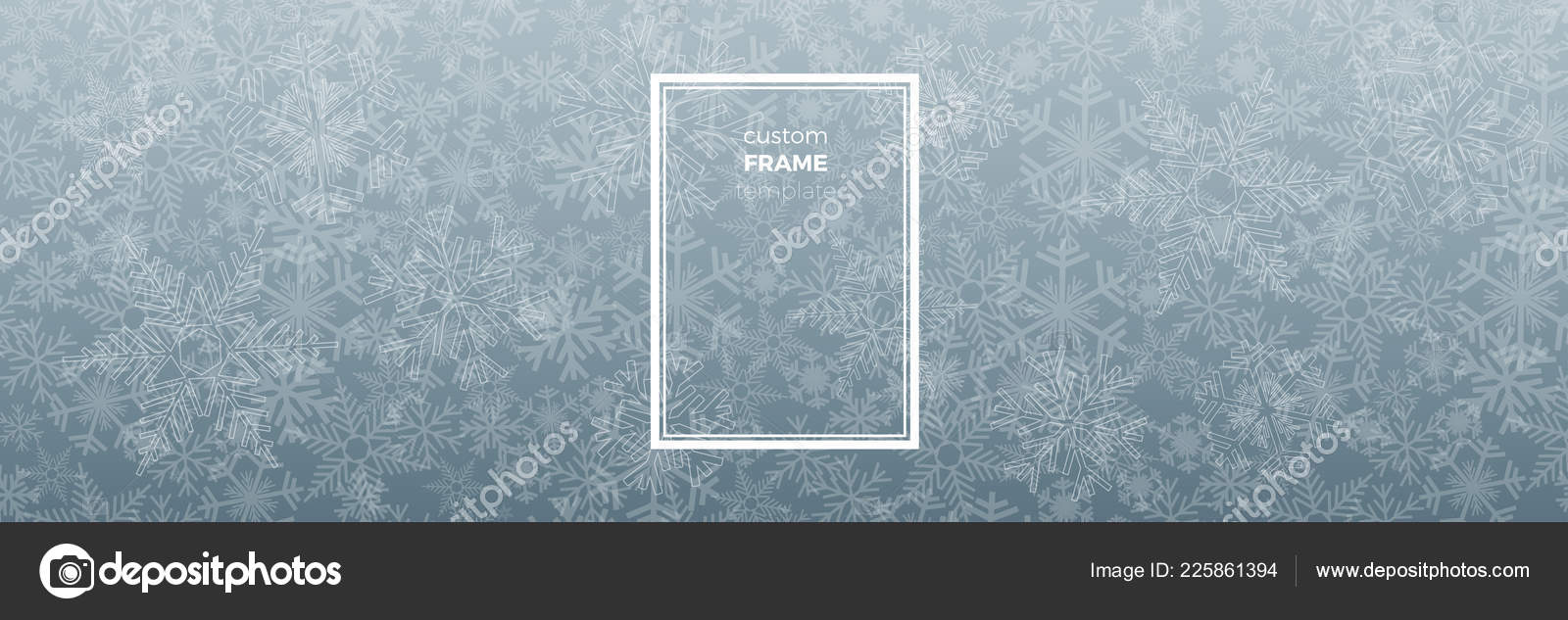 252df25e0ace Vector Winter Background. A cold Christmas with snowfall and ice crystals  banner — Vector by ...