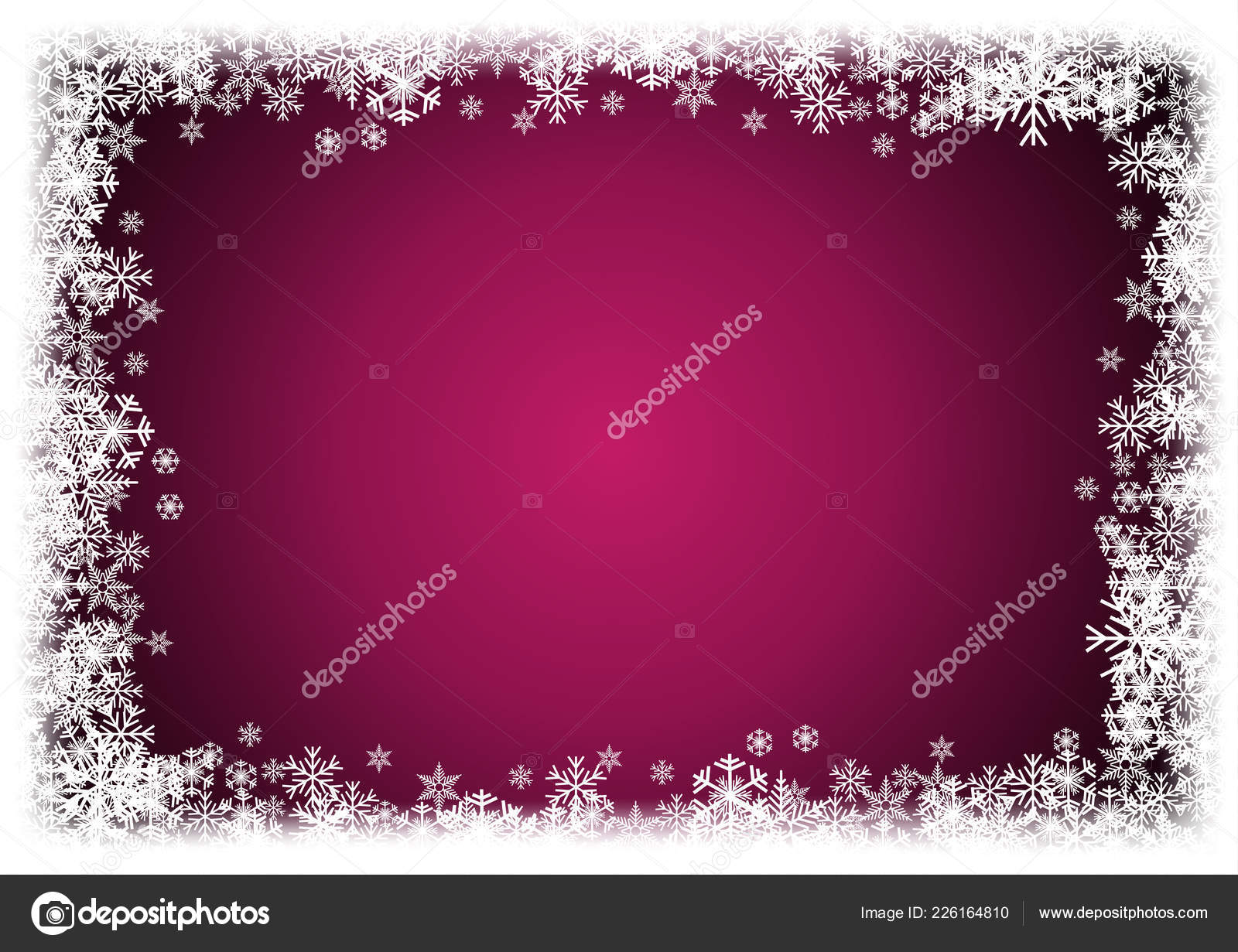 72ce48a771e5 Vector Winter Background. A cold Christmas. Frame made of snowfall and ice  crystals — Vector by LuckyTD