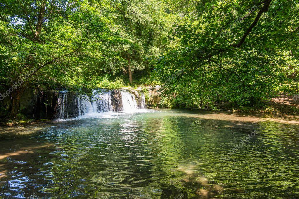 Waterfalls of Monte Gelato in the  Valle del Treja near Mazzano Romano, Lazio, Italy