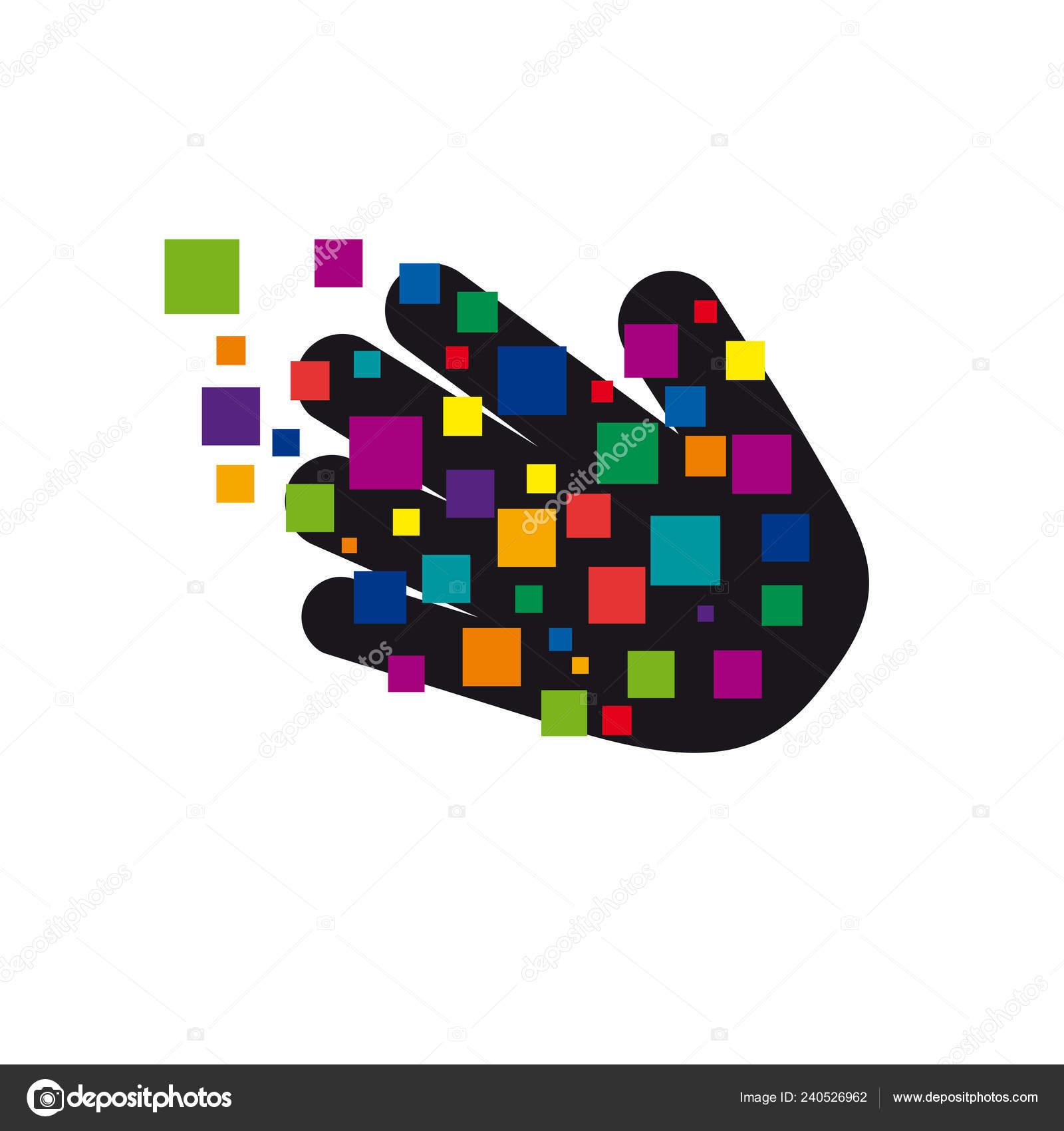 Vector Sign Digital Generation Hand Pixe — Stock Vector © LuckyTD