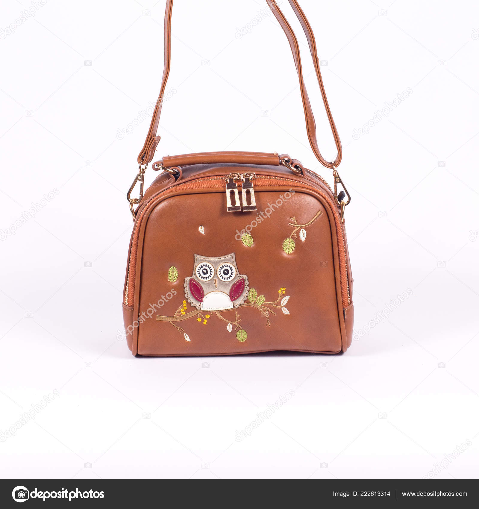 365e297c02 Leather Ladies Handbag White Background — Stock Photo © Myvisuals ...