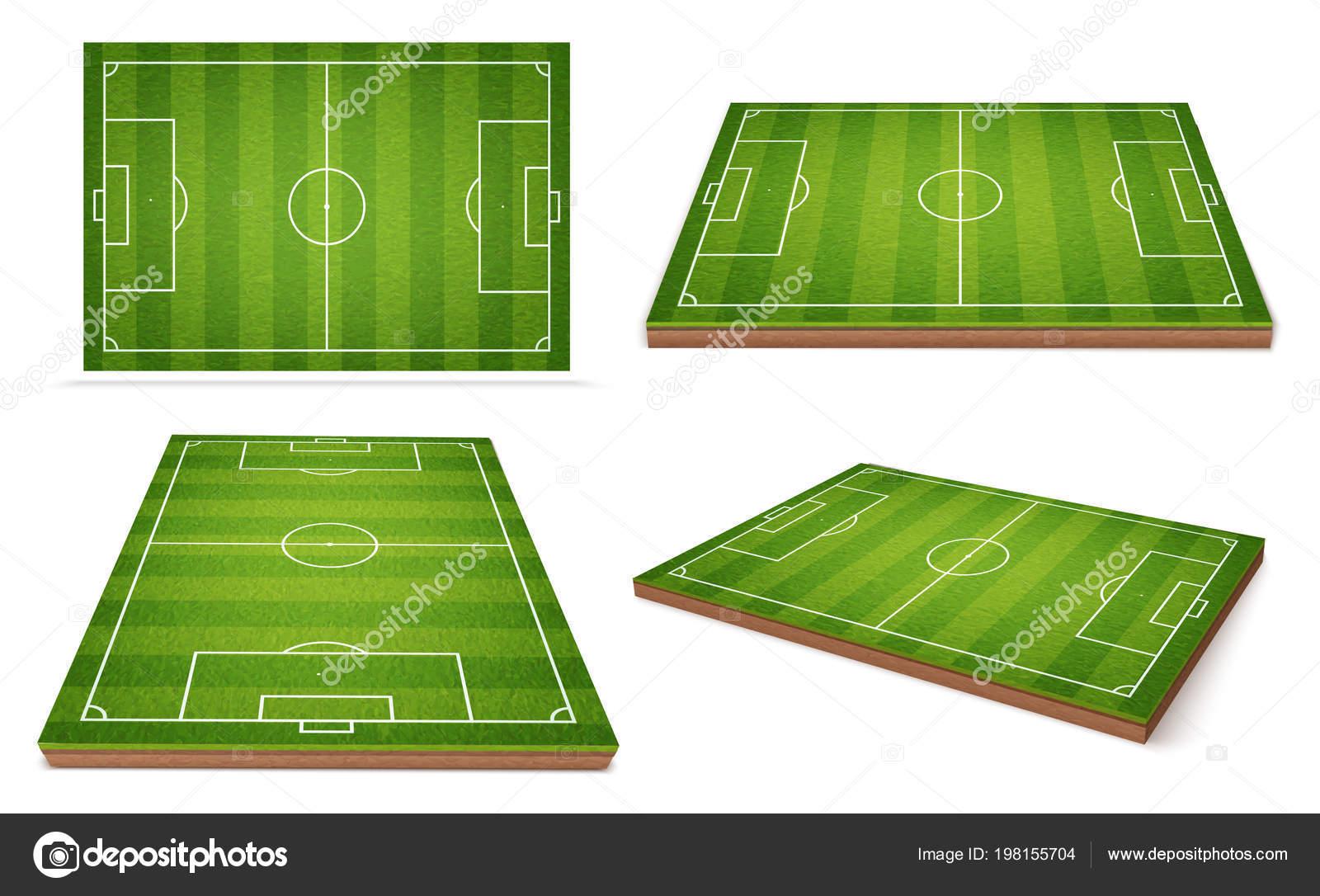 Fussball Feld Unterschiedliche Positionen Stockvektor