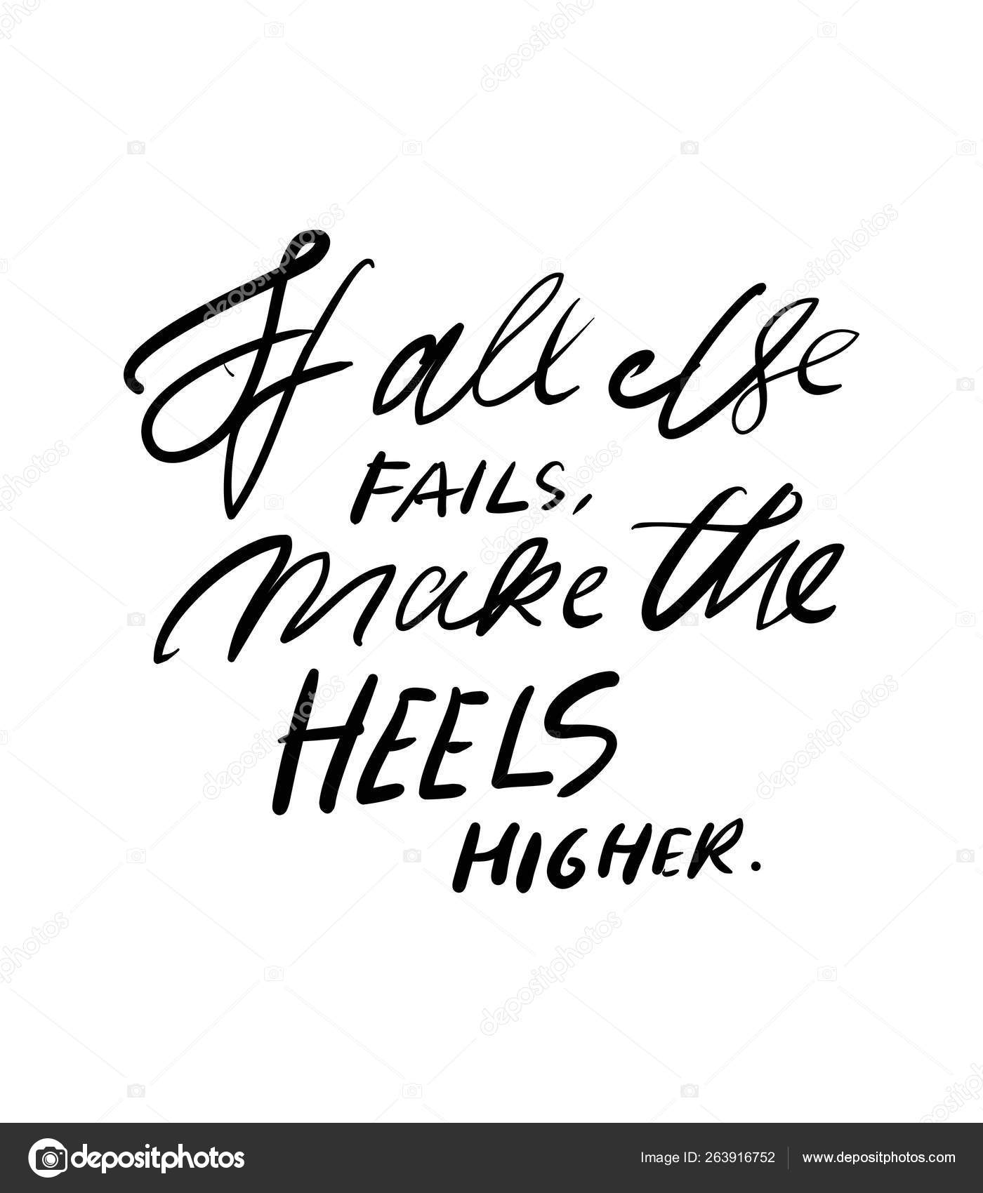 Quotes about shoes. Hand lettering fpr your design. — Stock ...