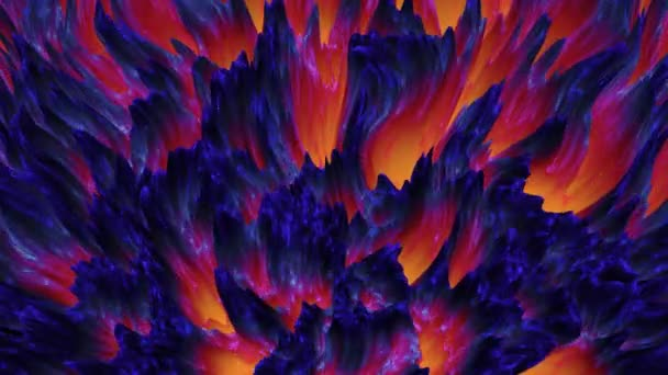 Abstract colorful lava magma background, dark matter, seamless loop