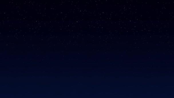 Cielo Stellato Notte Sfondo Spazio Blu Scuro Con Stelle Video
