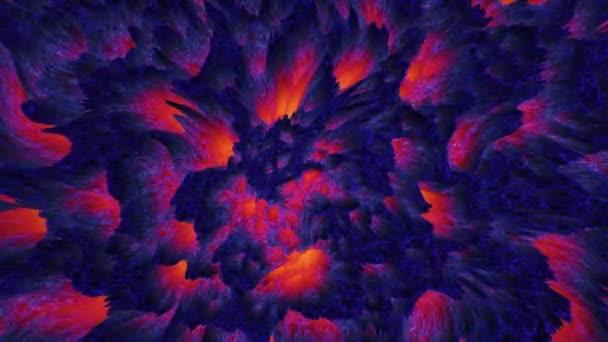Magma pozadí abstraktní barevné láva, pohybující se temná hmota
