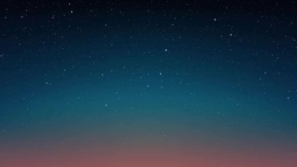 Night shining starry sky, blue space background with glittering stars, cosmos. Animated space background. Seamless loop