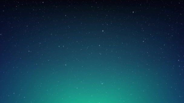 Night shining starry sky, blue space background with flickering stars, cosmos. Animated space background. Seamless loop