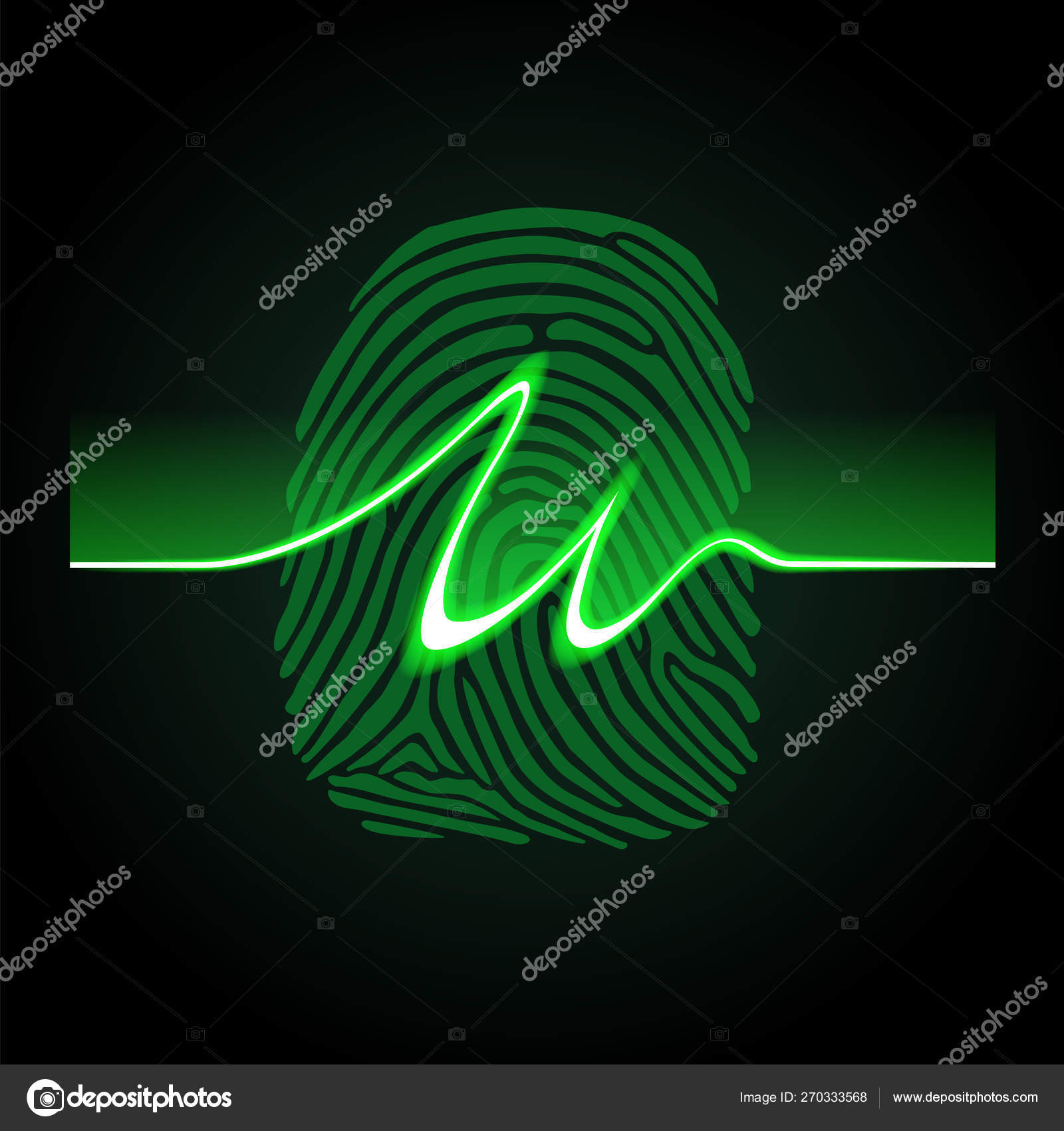 Abstract signature on fingerprint background, fingerprints