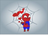 Fotografie little spider man. Marvel comic book superhero