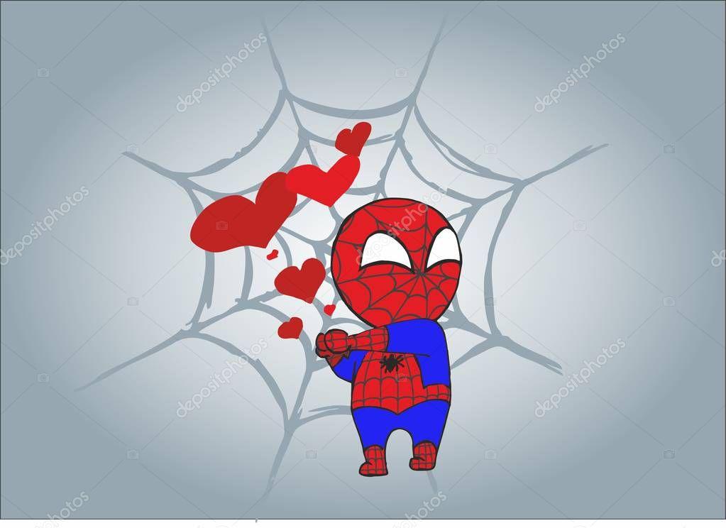 little spider man. Marvel comic book superhero