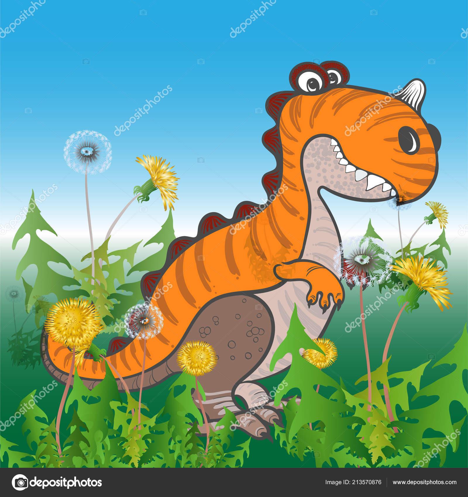 Dinosauri denti leone personaggio dei cartoni animati immagini