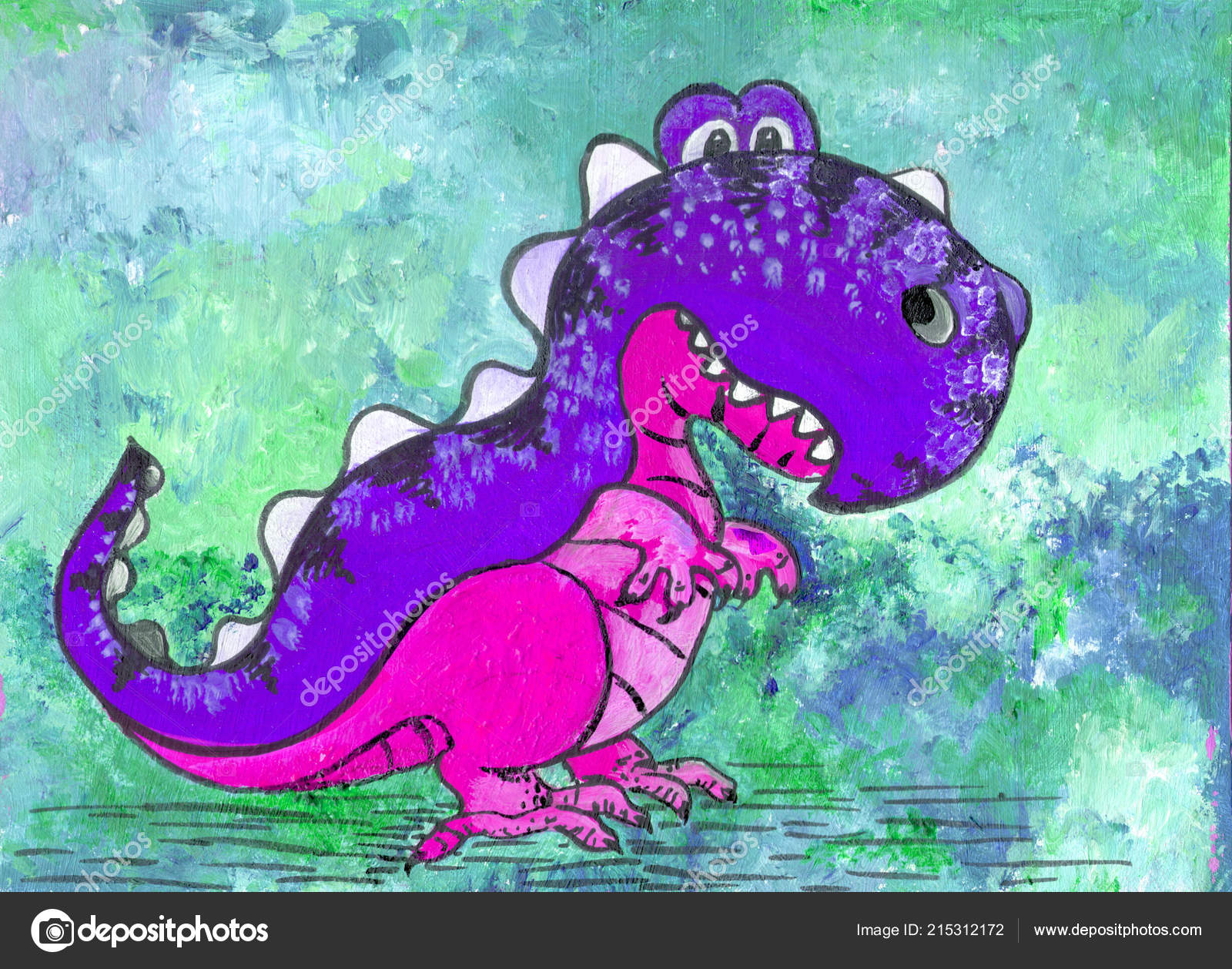 Dinosauro personaggio dei cartoni animati figura con vernici