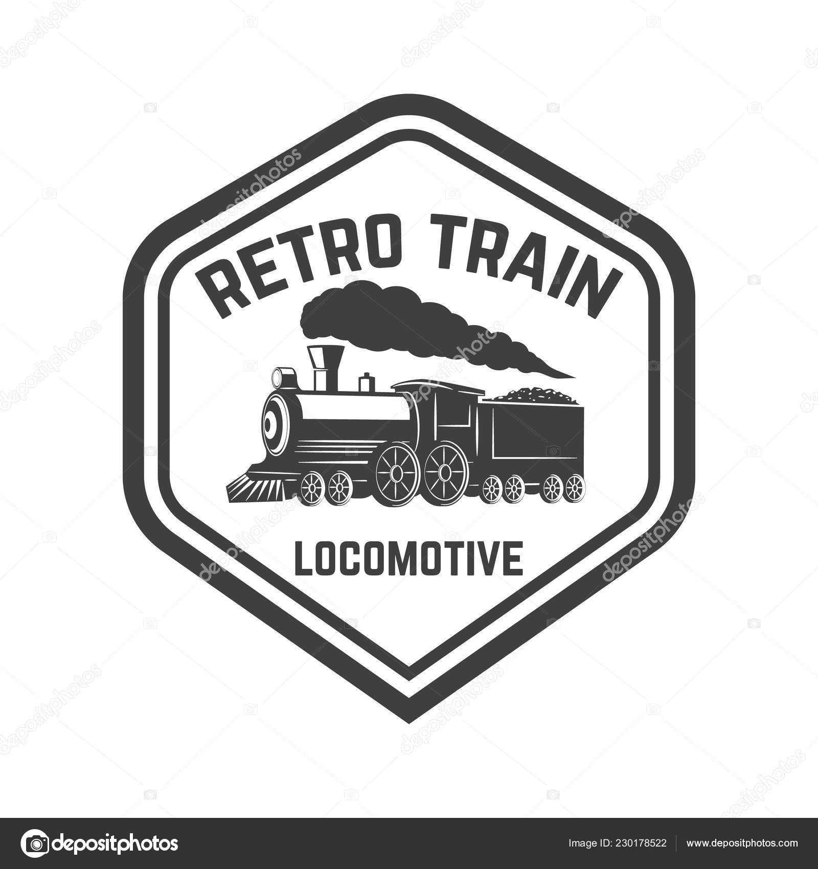 Emblem Template Retro Train Rail Road Locomotive Design Element Logo Stock Vector C Art L I Ua 230178522