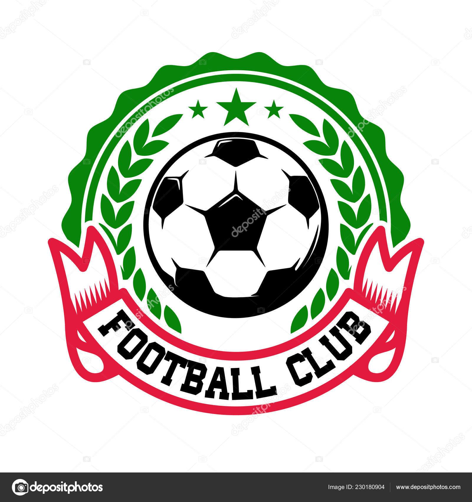 Equipo Fútbol Plantilla Emblema Con Balón Fútbol Elemento Diseño Logo —  Archivo Imágenes Vectoriales 456d451598fd9