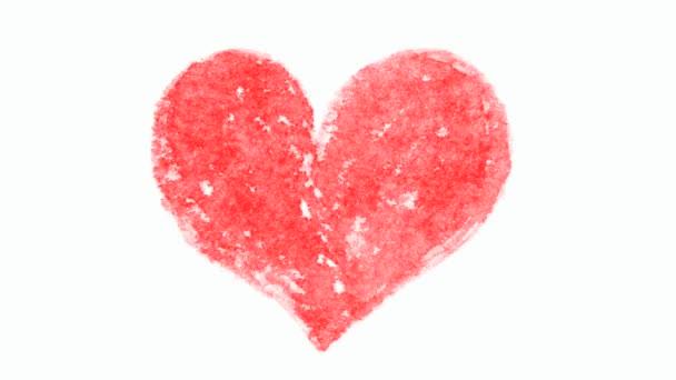 Ruka tažené srdeční animace