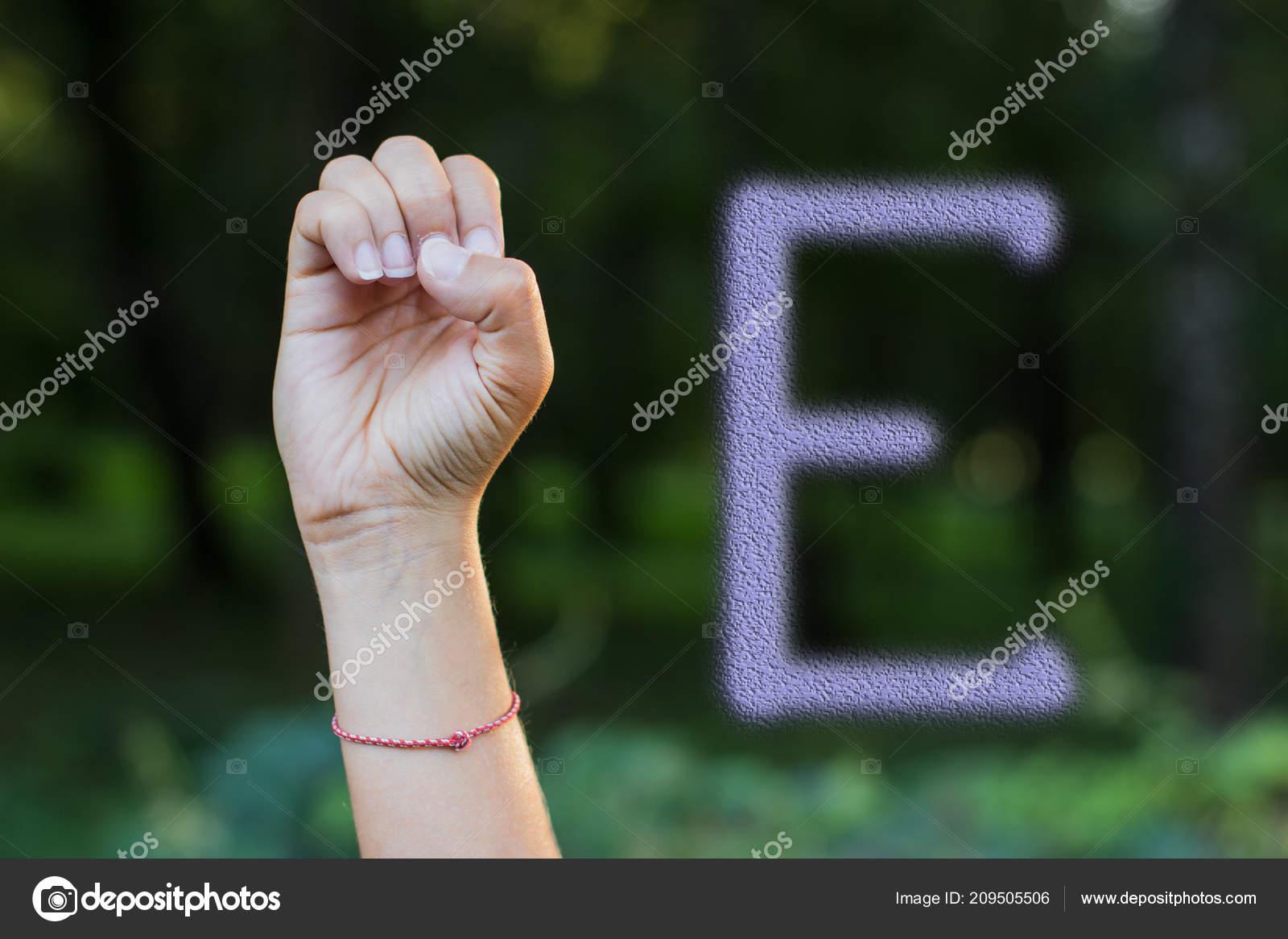 Non Verbal People Communication Concept Dactyl Alphabet