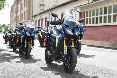 show of gendarmerie motorbike parade