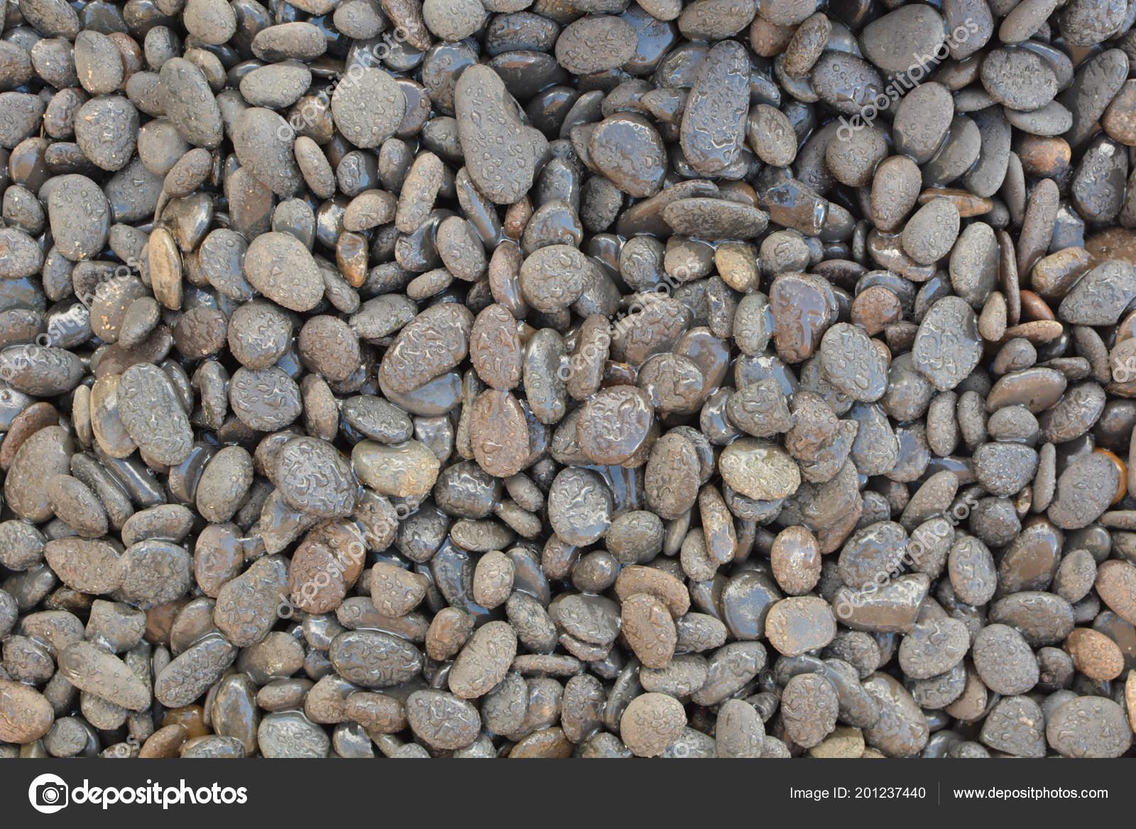 Kiezelstenen kleine stenen voor tuin decoratie u stockfoto