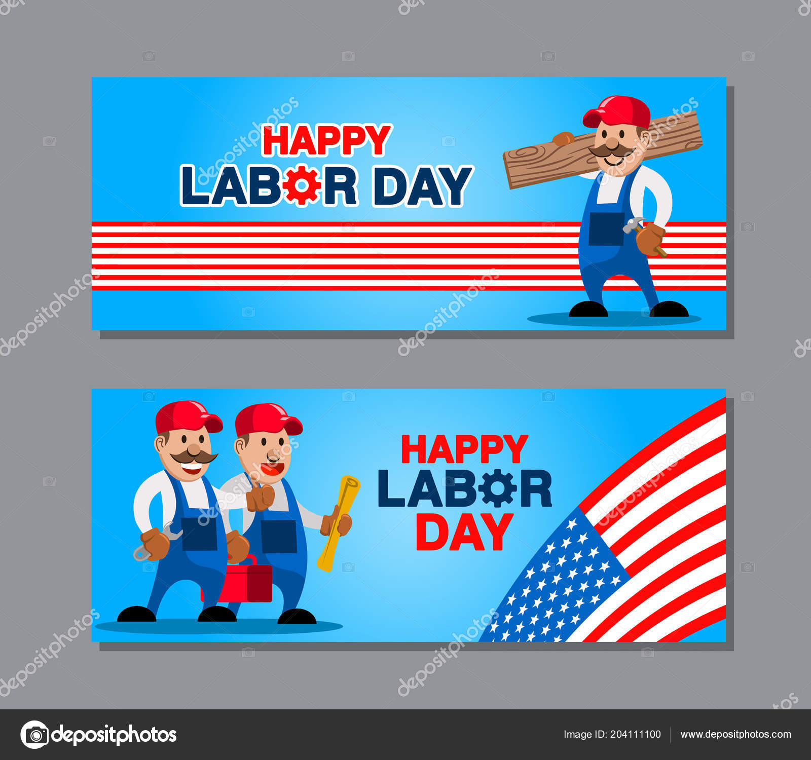 Vector Design Labor Day Greetings Banner Stock Vector Superzizie
