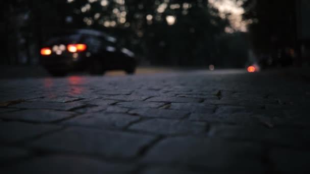 Silniční panely, auta jezdit v noci