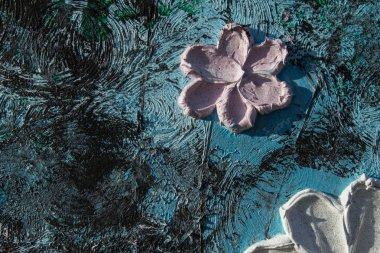 """Картина, постер, плакат, фотообои """"Художественная масляная картина. Абстрактные Цветы."""", артикул 228063592"""