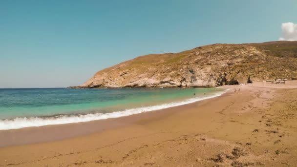 Zorkos Beach in Andros island in Greece.