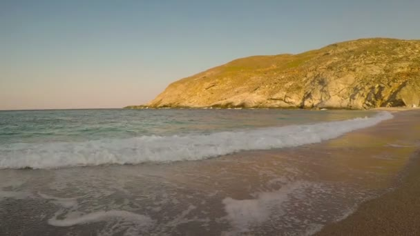 View of Zorkos Beach in Andros island in Greece. A beautiful touristic destination.