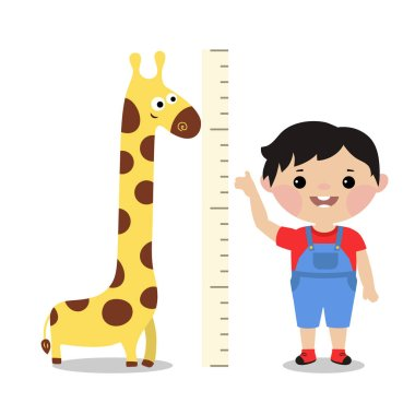 Kid measures the growth.